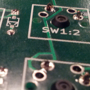 switches soldered in